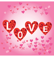 hearts with letters love vector image