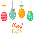 holiday bright design with cute easter eggs vector image
