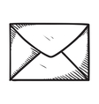 Message or letter symbol vector image