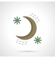 Night sky flat color design icon vector image