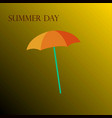 yellow umbrella on a yellow background vector image
