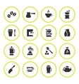Set round icons of coffee vector image