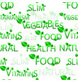 pattern vegetables vegetarianism vitamins vector image