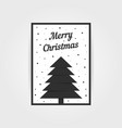 Gothic christmas card with black xmas tree vector image