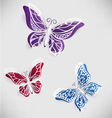 Colorful paper butterfly origami vector image