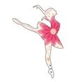 Ballet dancer vintage vector image