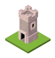 Isometric icon of medieval tower or prison vector image