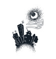 cartoon dark city vector image
