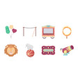 circus and attributes icons in set collection for vector image