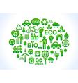 Eco friendly world- icons set vector image
