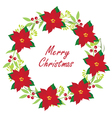 floral wreath christmas vector image