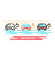 icon shows a car with an electric plug vector image