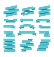Paper banners ribbons in origami style vector image