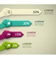 Percent statistics vector image