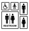 Restroom icons set vector image