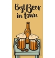 best beer in town vector image