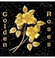 Flowers Bouquet Golden Roses vector image vector image