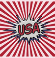 declaration of usa pop art comic speech bubble usa vector image