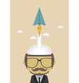 138paper plan launcher from head vector image