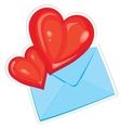 hearts and envelope vector image