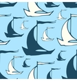 Seamless nautical pattern with decorative sailing vector image