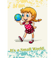 Idiom it is a small world vector image