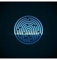 Fingerprint identification system with blue vector image