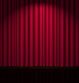 Background with red velvet curtain vector image