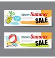 Summer sale voucher templateDiscount coupon Banner vector image vector image