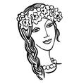 beautiful girl Ukrainian vector image