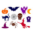 collection of halloween silhouettes - more vector image