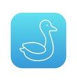 Duck line icon vector image