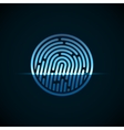 Fingerprint identification system with blue vector image