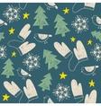 hand drawn seamless Christmas pattern vector image