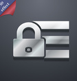 Lock login icon symbol 3D style Trendy modern vector image