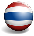 Thai flag on round badge vector image