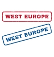 West Europe Rubber Stamps vector image