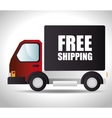 free shipping delivery icon vector image