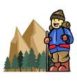 mount climber boy vector image