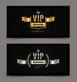 vip golden and silver invitation template vector image