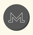 symbol of digital crypto currency monero vector image