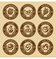 Natural Fruits and Berry Stamps vector image