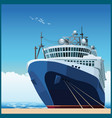 ocean liner at the pier vector image