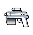 line pistol military army to protection in the war vector image