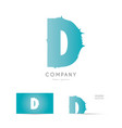 d blue letter alphabet logo icon design vector image