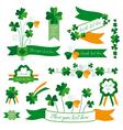 Set of St Patricks Day decorative elements vector image