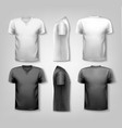 T-shirts with sample text space vector image vector image