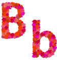flower alphabet of red roses characters bb vector image vector image