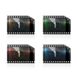Film strip set vector image vector image