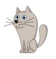 cute dog like grey wolf vector image vector image